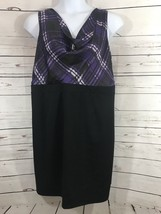 Women's Motherhood Maternity Sz XL Dress Drape Neck Skirt Top Combo Purp... - $12.19