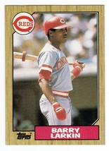 Barry Larkin 1987 Topps Card #648 Rookie Cincinnati Reds - $2.49