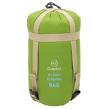 OuterEQ Sleeping Bags Camping Hiking Sleeping Bag Army Green - £15.68 GBP