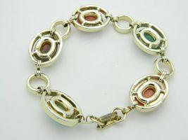 Multi-Color Lucite Carved Egyptian Scarab Gold Tone Bracelet Vintage image 4