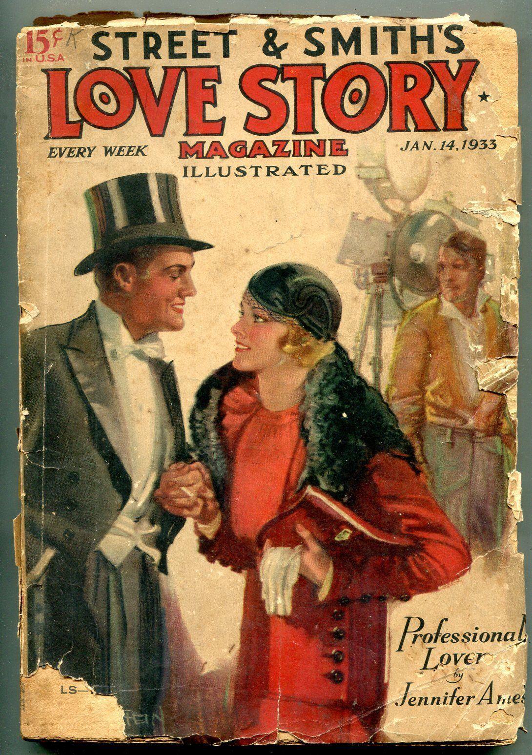 Love Story Magazine January 14 1933-Romance Pulp reading copy - $44.14