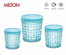 Milton Storex Container Sets - Available in 3 colors/sizes Blue, Set of 3 - $34.41