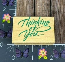 Hero Arts Thinking Of You Rubber Stamp 1996 Script C1122 Wood #J142 - $2.23