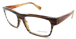 Alain Mikli Rx Eyeglasses Frames A01103 B0AS 55x17 Black Brown Stripe France - $105.06