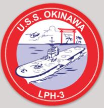 US Navy USS Okinawa LPH-3 Sticker NEW!!! - $9.89