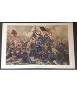 Currier & Ives, Gallant Charge 54th MA (Colored) Regiment Shorewood Publ... - $24.65