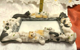 """Vintage 1999 Sculpted Cats Black and White Frame-ology Holds a 4""""x6"""" Photo image 6"""