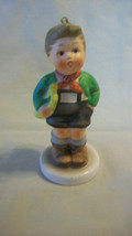Schmid Collectible Figurine, Boy With Horn, 1983 First Edition - $22.28