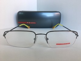 New PRADA VPS 51F VPS51F 5AV-1O1 Silver Semi-Rimless 53mm Men Eyeglasses Frame - $134.99