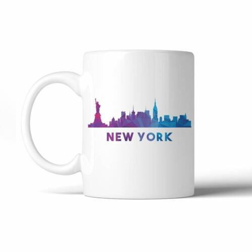 365 Printing Polygon Skyline Multicolor Downtown White Mug image 9