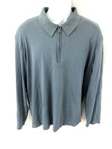 Calvin Klein Mens Sixe 2XL XXL 1/4 Zip Blue Sweater - $23.64