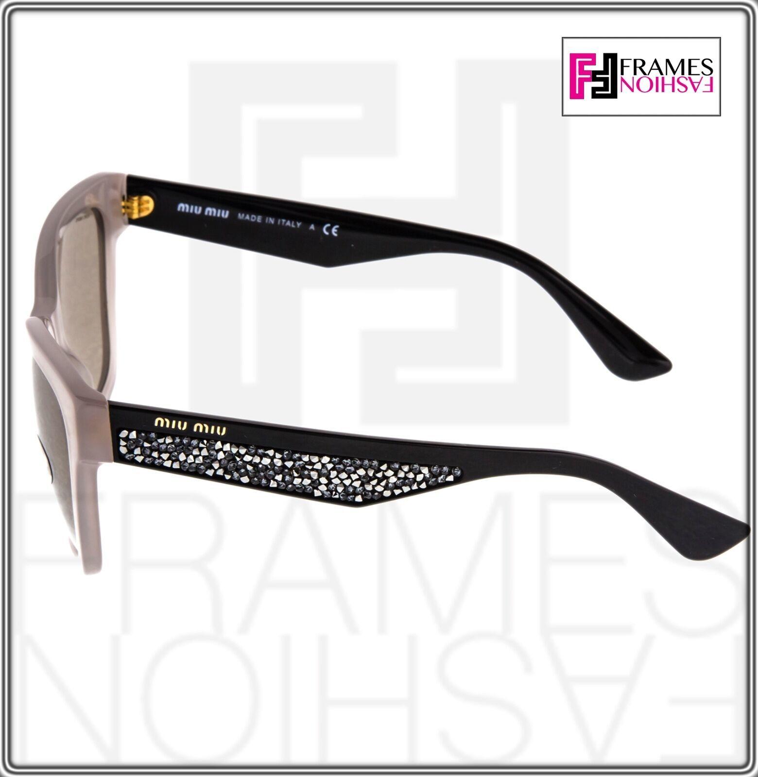 MIU MIU PAVE EVOLUTION MU 06R Square Black Rock Opal Argil Sunglasses MU06RS image 4