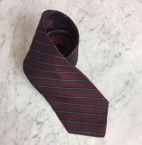 fa04a358e 12. 12. Vintage Tommy Hilfiger Textured Maroon Regimental Stripe Mens Silk  Neck Tie USA. Vintage Tommy Hilfiger ...