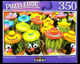 350 Piece Jigsaw Puzzle, Puzzlebug 18 in. x 11 in., Cute And Funny Cacti... - $4.99