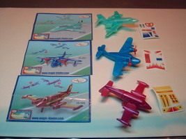 Kinder - 2007 2S-366-368 Airplanes - Complete set + 3 papers + 3 stickers - $3.50