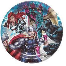 "American Greetings Round Plate 7"" 8/Pkg-Avengers Dessert Plates - $5.89"