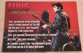 """Collectable Elvis Presley /""""the King/"""" Cut Glass Photo Plaque Edition  #3"""