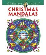 Creative Haven Christmas Mandalas Coloring Book (Creative Haven Coloring... - $8.86