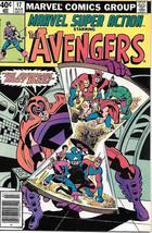 Marvel Super Action Comic Book #17 The Avengers 1980 FINE+ - $3.99
