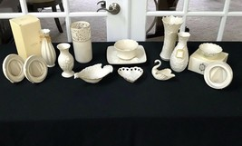 Vintage Lenox China Collectible 14 Piece Lot: Vase, Trays, Ring Holder, Photo  - $134.99