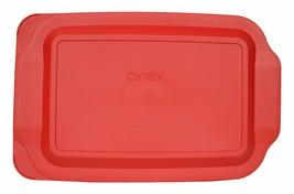 "Pyrex 233-PC 3 Quart Red Rectangle Standard 9"" x 13"" Baking Dish Lid Lid... - $10.94"