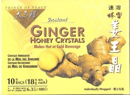 Prince of Peace, Ginger istantaneo, Miele cristalli,individuale INCARTO, ( NUOVO - $4.49