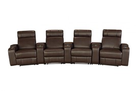 MYCO Furniture Riverton  Modern Brown Leather Air 4 Seats Power Recliner... - $2,450.00