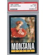 1985 Topps #157 Joe Montana PSA 6 EX-MT 49ers - $12.82