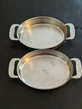 """Lot of 2 all clad 7 stainless steel oval """"in individual gratin pan cooking - $37.92"""