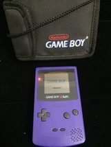 Gameboy Color Purple (Working Condition) With Official Nintendo Carrying... - $44.95