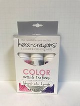 Kera Color KERA-CRAYONS 3 color+Clenditioners Light Pink, Silver & Purpl... - $14.49