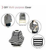 Amazlinen Baby Car Seat Cover Forward Facing Black/White Stripe w Mosqui... - $13.95