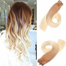 Tape in Hair Extensions Real Human Hair Extensions Natural Hair Extensions Skin  image 2