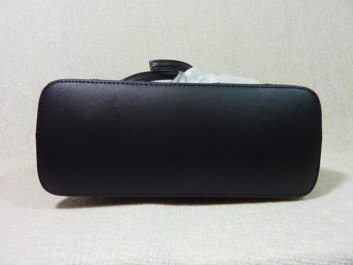 NWT Tory Burch Black Saffiano Mini Robinson Stitched Dome Cross Body Bag  - $425 image 6