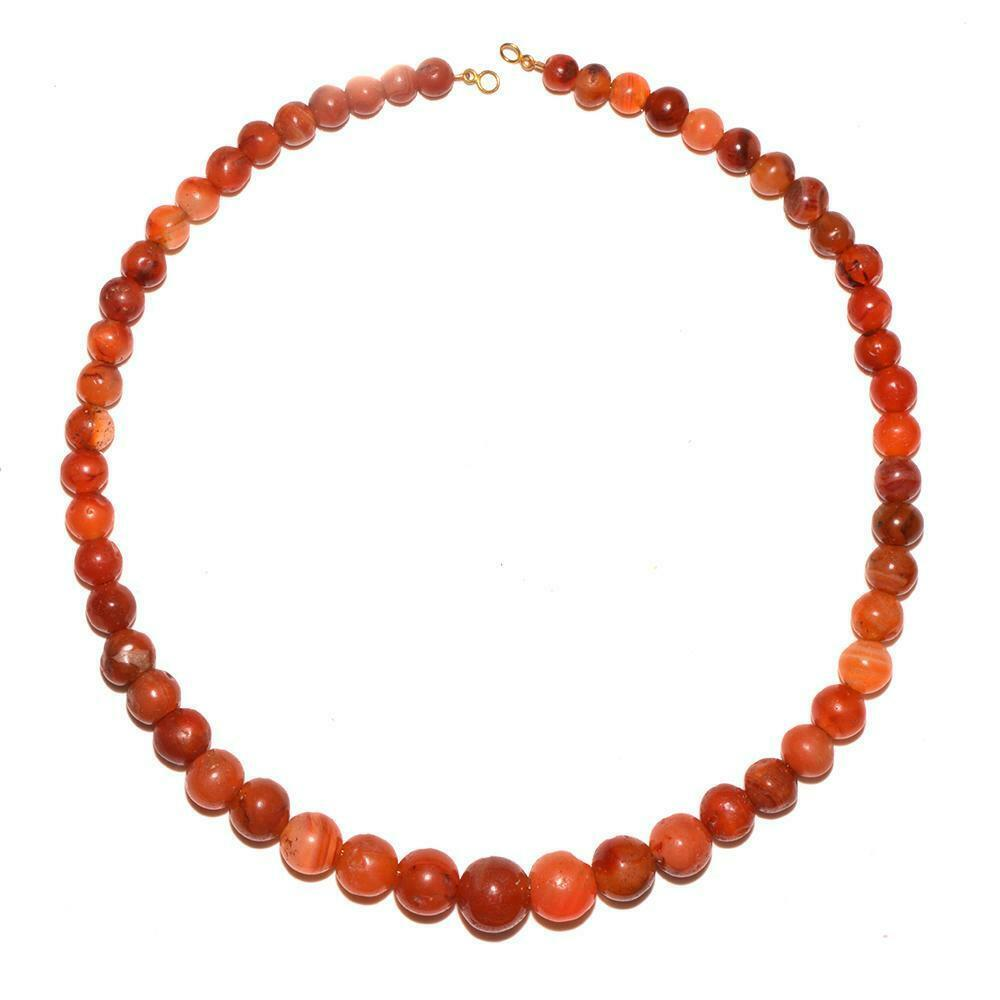 Egyptian carnelian ball bead necklace c.2025 BC - 1760 BCE