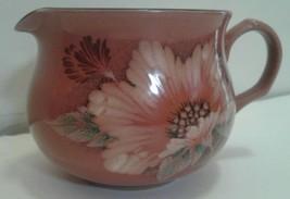 Denby Damask Creamer Cream Pink Floral - $14.95
