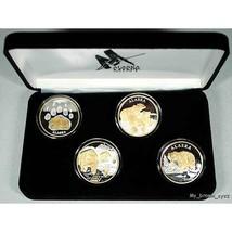 Alaska Mint 4 - BEAR SET Gold & Silver Medallion Proof - $395.99