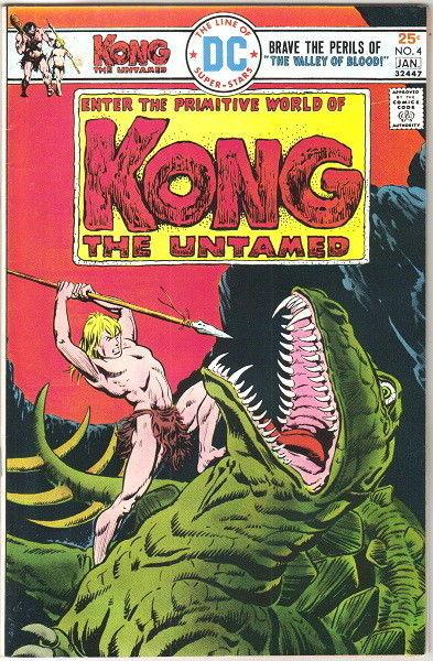Kong The Untamed Comic Book #4 DC Comics 1976 FINE+