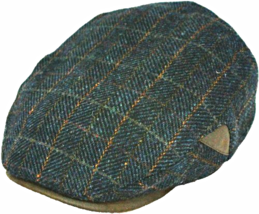 Henschel Italian Wool 5 Point Ivy Lined Faux Suede Visor And Accent Brow... - $50.00