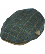 Henschel Italian Wool 5 Point Ivy Lined Faux Suede Visor And Accent Brow... - $49.00