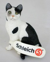 Schleich Cat Sitting Black & White 13637 Retired With Tag - $14.85