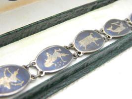 Vintage Siam Sterling Silver Thailand Dancer Chain Link Bracelet - $39.60
