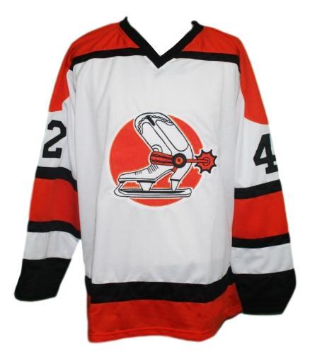 Anderson  42 denver spurs retro custom hockey jersey white   1