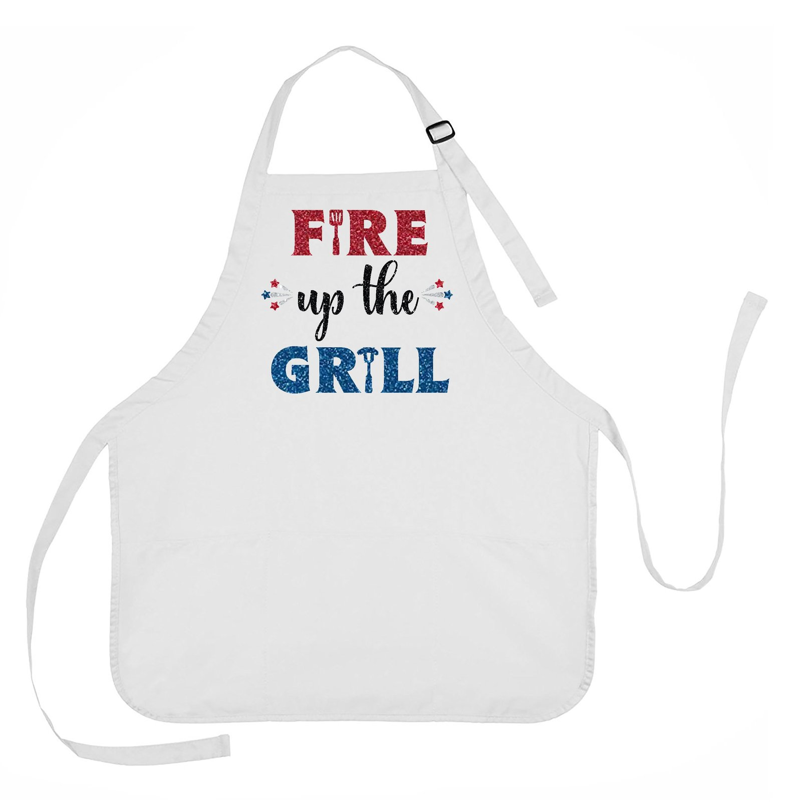 Fire Up The Grill Apron, 4th of July Apron, Summer Grilling Apron - $18.00