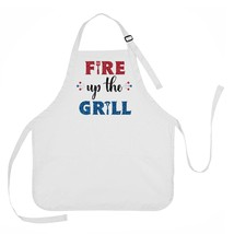 Fire Up The Grill Apron, 4th of July Apron, Summer Grilling Apron - $23.71 CAD