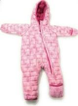 Snozu Weatherproof Fleece Lined Hooded Snowsuit Baby Girls Pink Mosaic 3/6M image 2