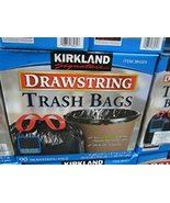 Kirkland Signature Drawstring Trash Bags - 33 Gallon - Xl Size - (90 cou... - £58.17 GBP