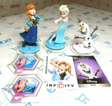 Disney Infinity 1.0 3.0 Frozen Set Lot Olaf Elsa Anna with Power Disk We... - $15.15