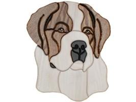 St. Bernard - intarsia Wood Carving  - $110.99