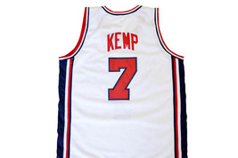 Shawn Kemp #7 Team USA Men Basketball Jersey White Any Size image 5